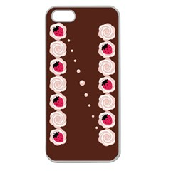 Cake Top Choco Apple Seamless Iphone 5 Case (clear) by strawberrymilk