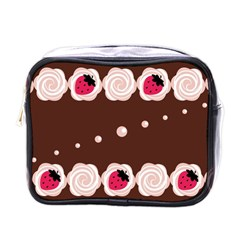 Cake Top Choco Mini Toiletries Bag (one Side) by strawberrymilk
