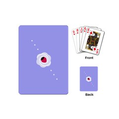 Cake Top Purple Playing Cards (mini) by strawberrymilk
