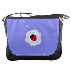 Cake Top Purple Messenger Bag by strawberrymilk