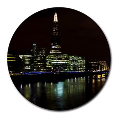 The Shard And Southbank London 8  Mouse Pad (round) by Londonimages