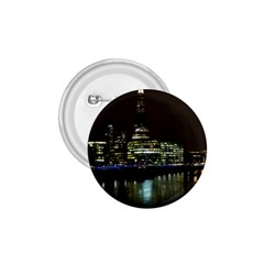 The Shard And Southbank London Small Button (round) by Londonimages