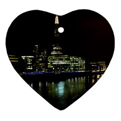 The Shard And Southbank London Ceramic Ornament (heart)
