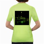 The Shard and Southbank London Green Womens  T-shirt Back