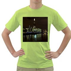 The Shard And Southbank London Green Mens  T Shirt by Londonimages