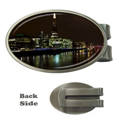 The Shard And Southbank London Money Clip (oval) by Londonimages