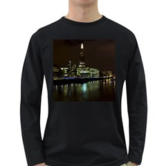 The Shard And Southbank London Dark Colored Long Sleeve Mens'' T Shirt by Londonimages