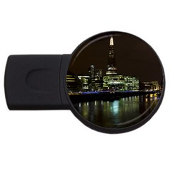 The Shard And Southbank London 4gb Usb Flash Drive (round) by Londonimages