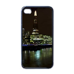 The Shard And Southbank London Black Apple Iphone 4 Case by Londonimages