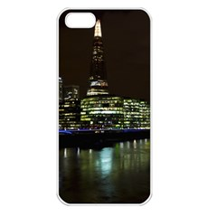 The Shard And Southbank London Apple Iphone 5 Seamless Case (white) by Londonimages