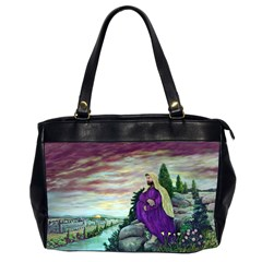 Jesus Overlooking Jerusalem By Ave Hurley  Twin Sided Oversized Handbag by ArtRave2