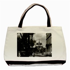 Vintage France Paris Notre Dame Saint Louis Island 1970 Black Tote Bag by Vintagephotos