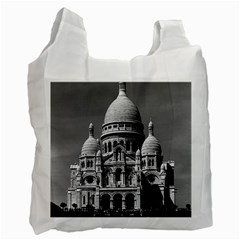 Vintage France Paris The Sacre Coeur Basilica 1970 Twin Sided Reusable Shopping Bag by Vintagephotos