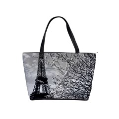 Vintage France Paris Eiffel Tour 1970 Large Shoulder Bag by Vintagephotos