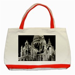 Vintage France Paris The Sacre Coeur Basilica 1970 Red Tote Bag