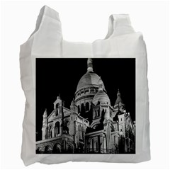 Vintage France Paris The Sacre Coeur Basilica 1970 Single Sided Reusable Shopping Bag by Vintagephotos