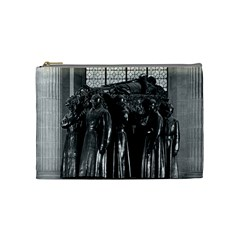 Vintage France Paris  Invalides Marshal Foch Tomb 1970 Medium Makeup Purse by Vintagephotos