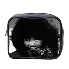 Vintage Usa Alaska Eskimo Child 1970 Twin Sided Cosmetic Case by Vintagephotos