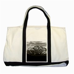 Vintage Usa Alaska Beautiful Mt Mckinley 1970 Two Toned Tote Bag by Vintagephotos