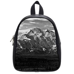 Vintage Usa Alaska Beautiful Mt Mckinley 1970 Small School Backpack by Vintagephotos