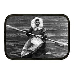 Vintage Usa Alaska Eskimo And His Kayak 1970 10  Netbook Case by Vintagephotos