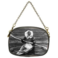 Vintage Usa Alaska Eskimo And His Kayak 1970 Twin Sided Evening Purse by Vintagephotos