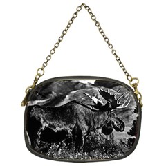 Vintage Usa Alaska Bull Moose 1970 Single Sided Evening Purse by Vintagephotos