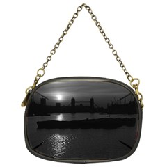 Vintage Uk England London Sun Sets Tower Bridge 1970 Twin Sided Evening Purse by Vintagephotos