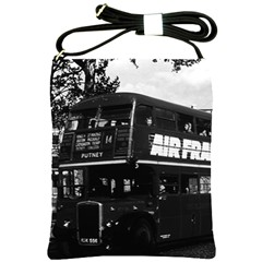 Vintage Uk England London Double Decker Bus 1970 Cross Shoulder Sling Bag by Vintagephotos