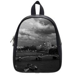 Vintage Uk England London The River Thames 1970 Small School Backpack by Vintagephotos