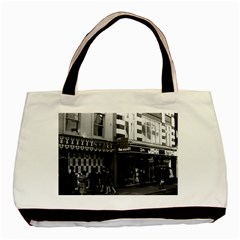 Vintage Uk England London Shops Carnaby Street 1970 Twin Sided Black Tote Bag by Vintagephotos