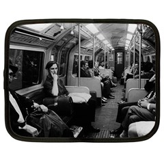 Vintage Uk  England Railway Inside Coach 1970 12  Netbook Case by Vintagephotos