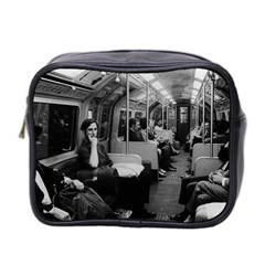Vintage Uk  England Railway Inside Coach 1970 Twin Sided Cosmetic Case by Vintagephotos