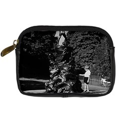 Vintage Uk  England London Peter Pan Statue Kensington Compact Camera Case by Vintagephotos
