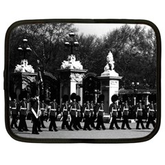 Vintage England London Changing Guard Buckingham Palace 13  Netbook Case by Vintagephotos