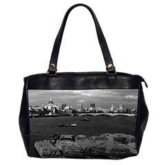 Vintage Uk England River Thames London Skyline City Twin Sided Oversized Handbag by Vintagephotos