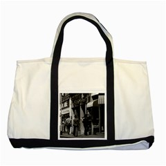 Vintage Uk England London Shops Carnaby Street 1970 Two Toned Tote Bag by Vintagephotos