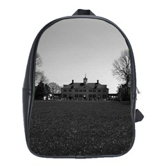 Vintage Usa Mount Vernon George Washington House 1970 Large School Backpack by Vintagephotos