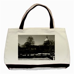 Vintage Usa Washington The Capitol 1970 Twin Sided Black Tote Bag by Vintagephotos