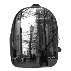 Vintage Usa Washington Street 1970 Large School Backpack by Vintagephotos