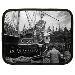 Vintage Usa California Disneyland Sailing Boat 1970 12  Netbook Case by Vintagephotos