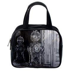 Vintage France Palace Of Versailles Astronomical Clock Single Sided Satchel Handbag