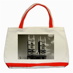 Vintage Uk England London Westminster Abbey 1970 Red Tote Bag by Vintagephotos