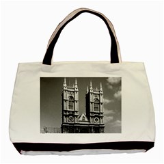 Vintage Uk England London Westminster Abbey 1970 Twin Sided Black Tote Bag by Vintagephotos