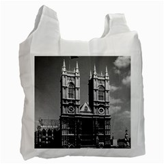 Vintage Uk England London Westminster Abbey 1970 Twin Sided Reusable Shopping Bag by Vintagephotos