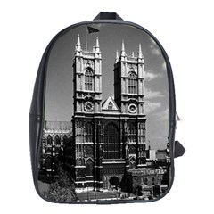 Vintage Uk England London Westminster Abbey 1970 Large School Backpack by Vintagephotos