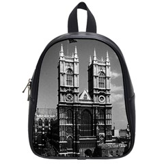 Vintage Uk England London Westminster Abbey 1970 Small School Backpack by Vintagephotos