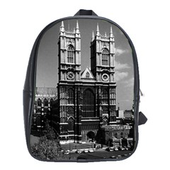 Vintage Uk England London Westminster Abbey 1970 School Bag (xl) by Vintagephotos