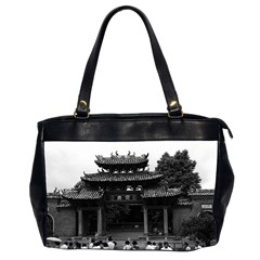 Vintage China Canton Taoist Ancestral Temple 1970 Twin Sided Oversized Handbag by Vintagephotos