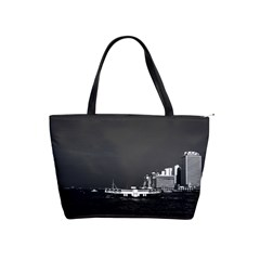 Vintage China Hong Kong Boat Skyscraper ??sea 1970 Large Shoulder Bag by Vintagephotos